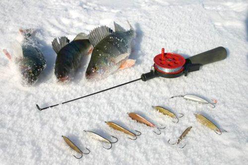 Рыба, блесны и удочка