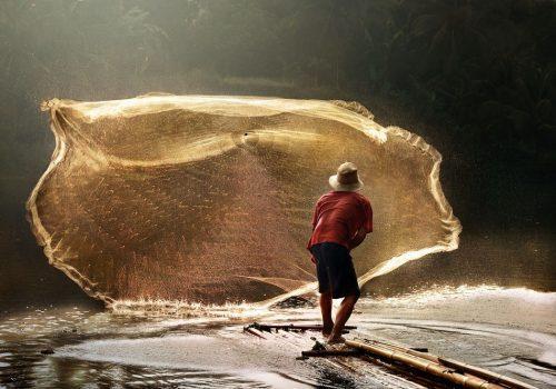 Ловля рыболовным парашютом