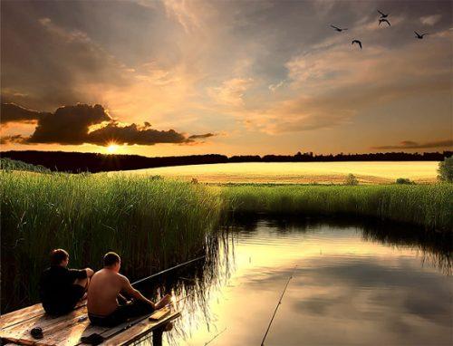 Рыбаки на речке