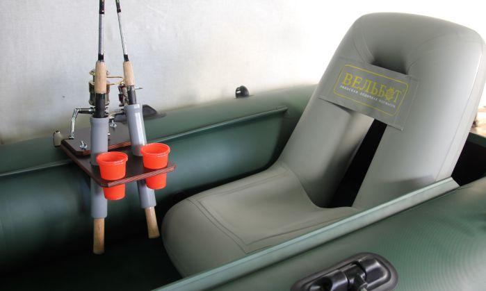 оборудование лодки держателями для спиннинга