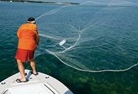 Ловля кастинговой сетью на море