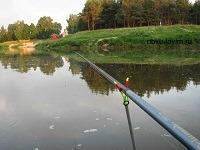 Болонская удочка на рыбалке